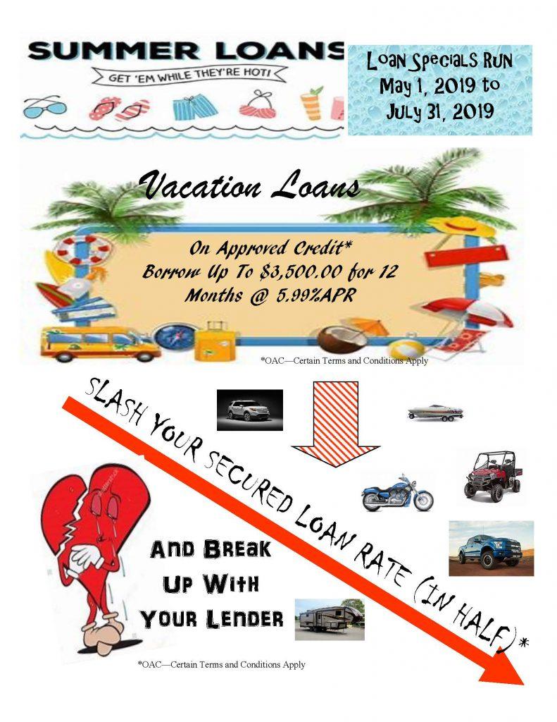 summer loan sale from u1st community fcu