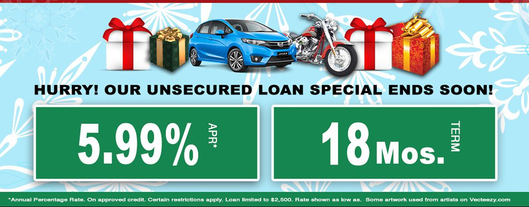 unsecured loan special!